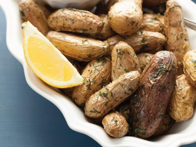 Potatoes Elevated: Baby Potatoes with Lemon Dill Sauce